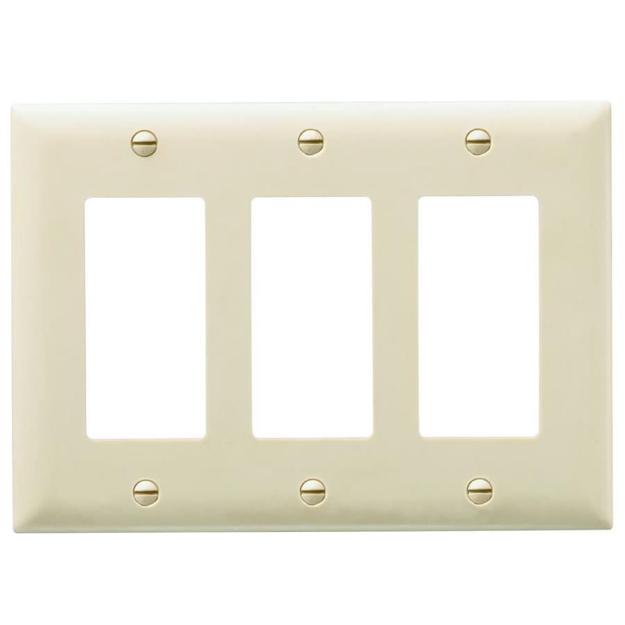 Pass & Seymour/Legrand Trademaster 3-Gang Ivory Triple Decorator Wall Plate