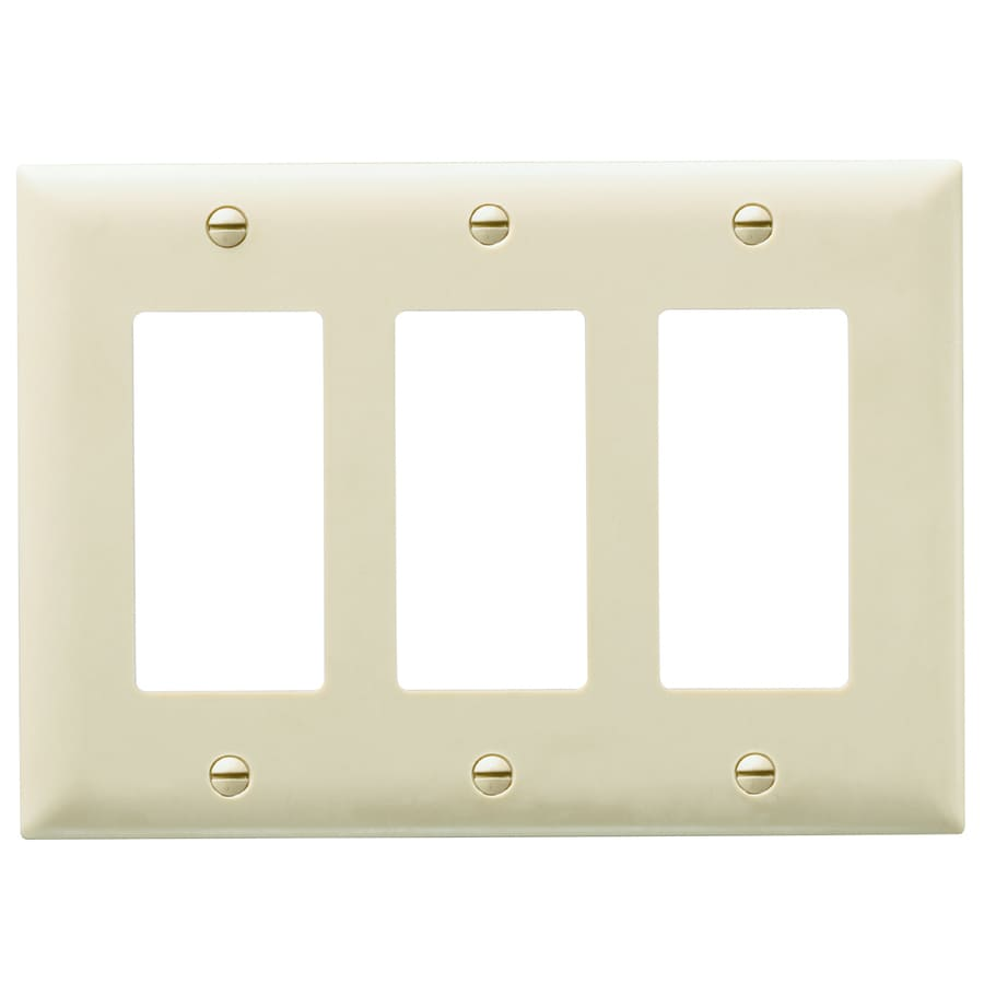 Pass & Seymour/Legrand Trademaster 3-Gang Light Almond Triple Decorator Wall Plate