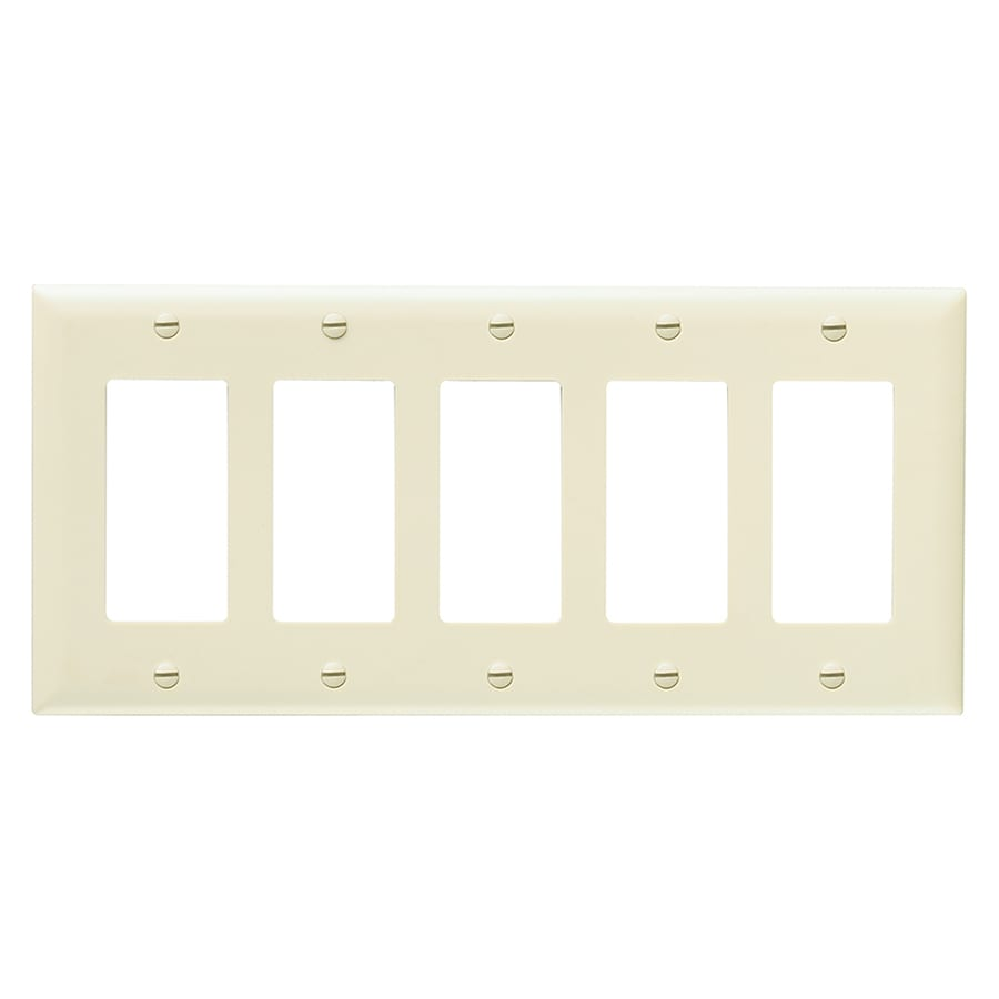 Legrand 5 Gang Ivory Five Wall Plate At Lowescom