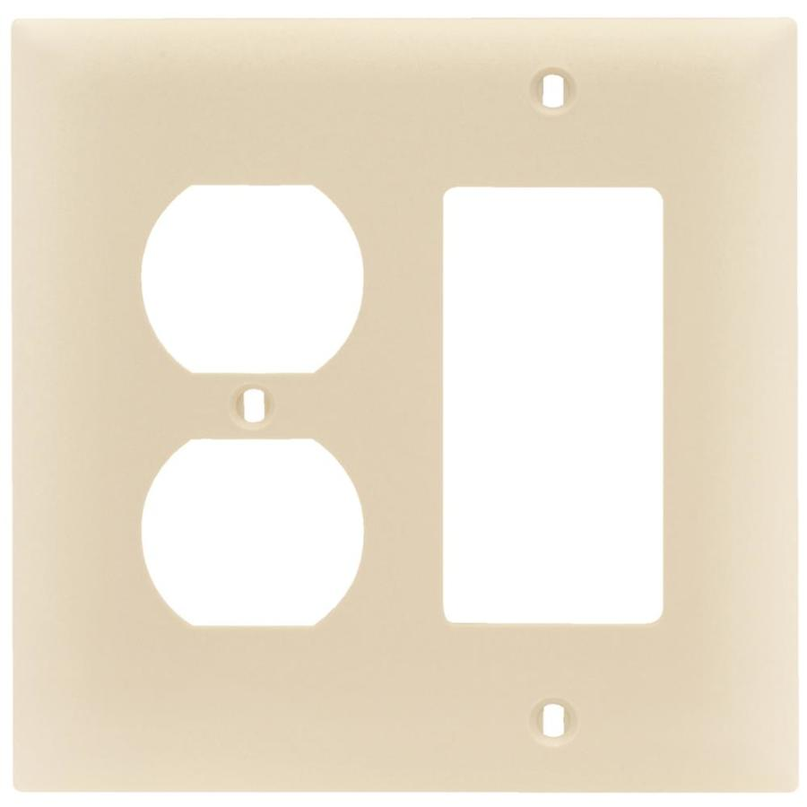 Pass & Seymour/Legrand Trademaster 2-Gang Light Almond Double Duplex/Decorator Wall Plate