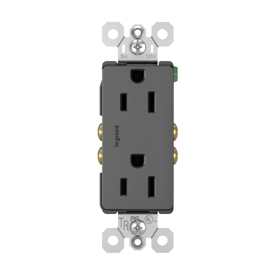 Home Decorators Outlet Locations: Legrand Radiant Black 15-Amp Decorator Outlet Residential