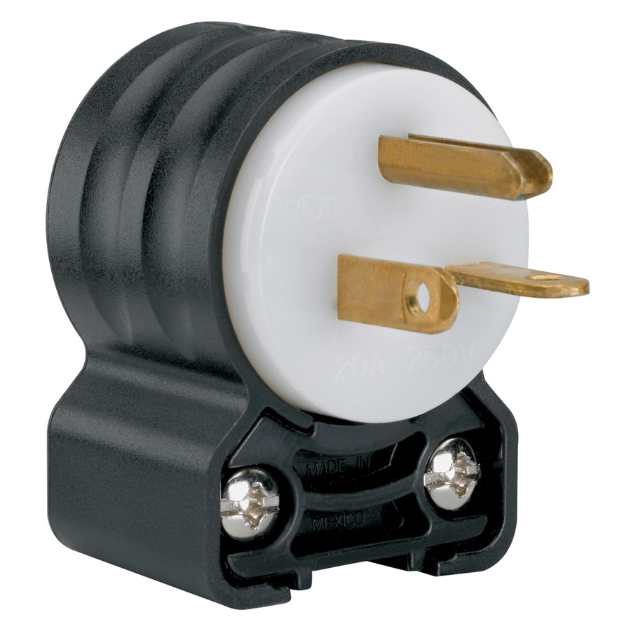 Shop Electrical Plugs Connectors At Wiring An Outlet With 6 Wires Legrand 20 Amp 250 Volt Yellow 3 Wire Grounding Plug