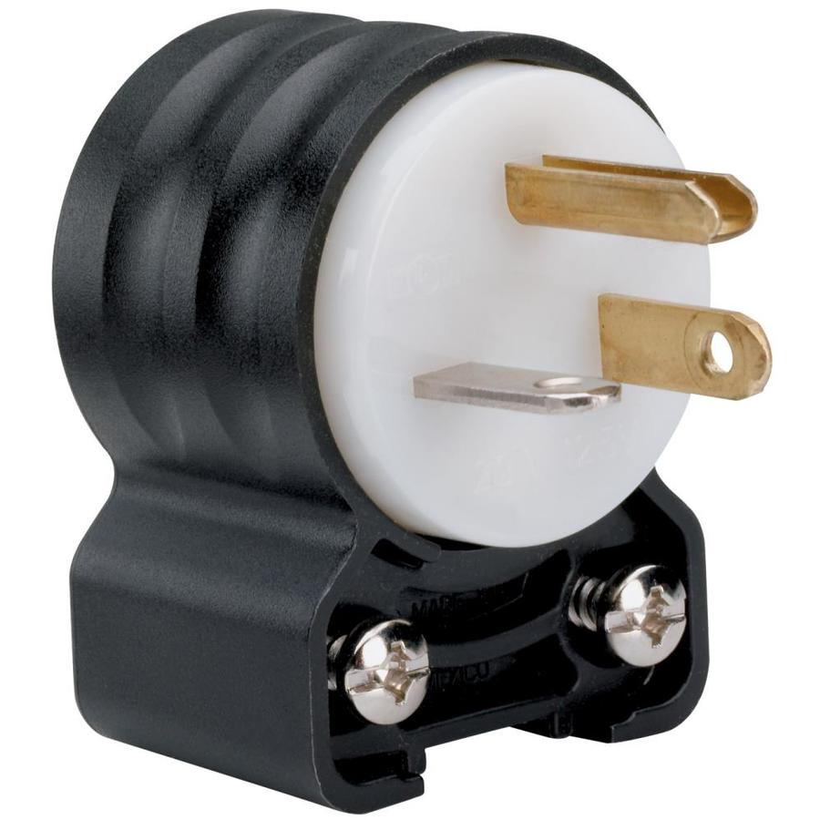 Legrand 15-Amp 125-Volt Black, Yellow and White 3-Wire Grounding Connector