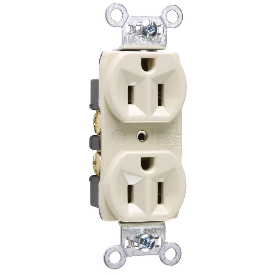 Legrand 15-Amp 125-volt Ivory Indoor Duplex Wall Outlet