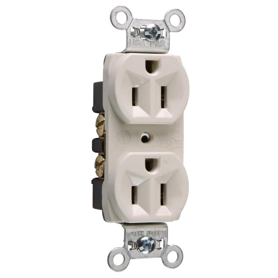Legrand 15-Amp 125-Volt Light Almond Indoor Duplex Wall Outlet