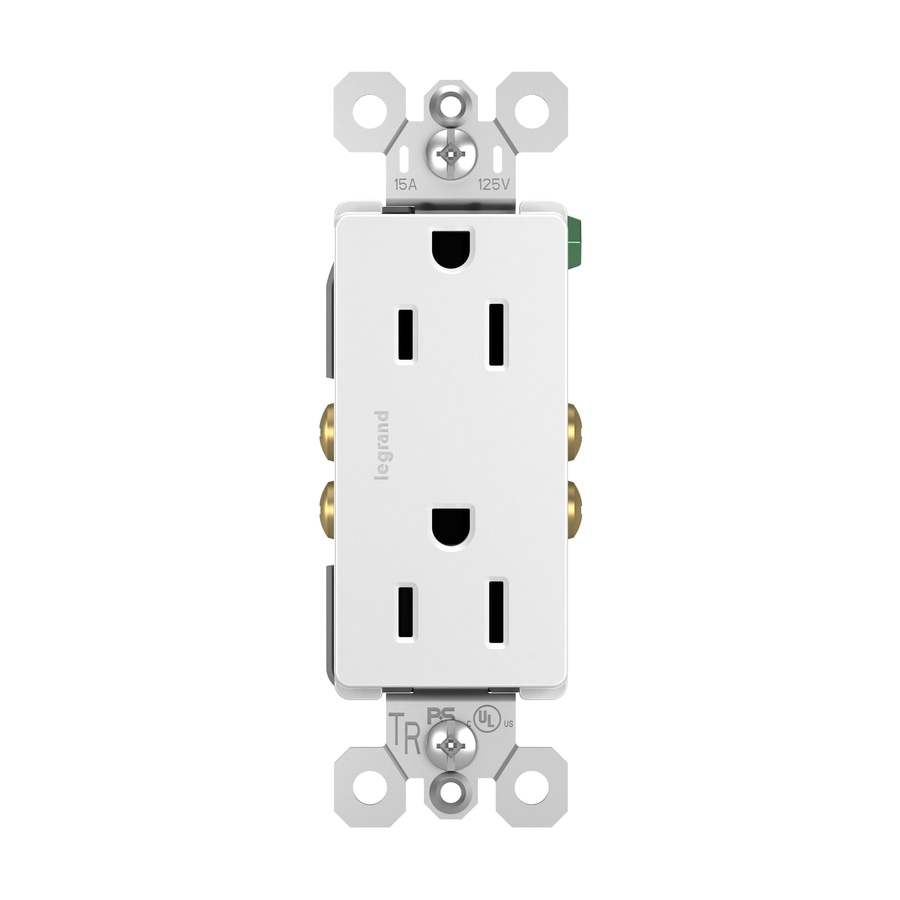 Legrand Radiant 15-Amp 125-Volt White Indoor Decorator Wall Tamper Resistant Outlet