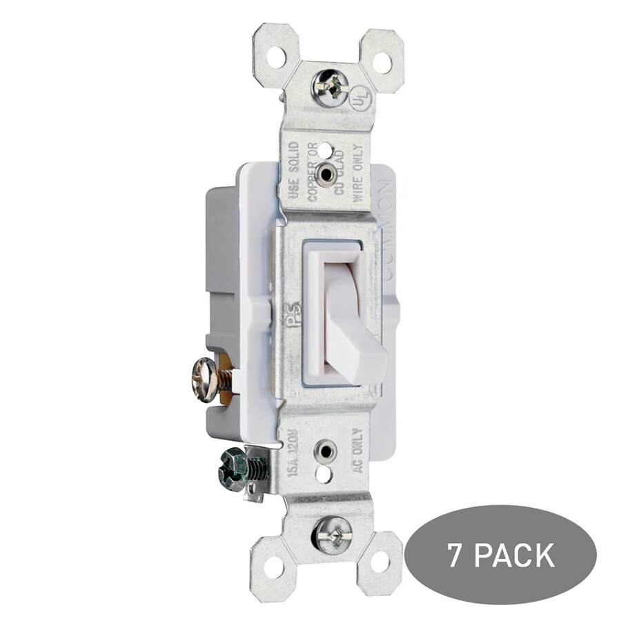 Legrand 7-Pack  15-amp 3-way White Framed Toggle Indoor Light Switch