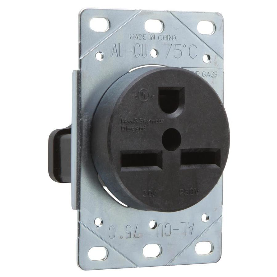 Pass & Seymour/Legrand 30-Amp 250-Volt Brown Indoor Round Wall Outlet