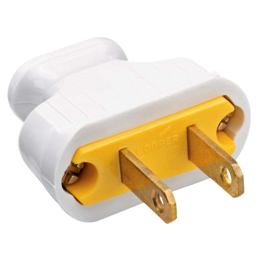 Pass & Seymour/Legrand 15-Amp 125-Volt White 2-Wire Polarized Plug