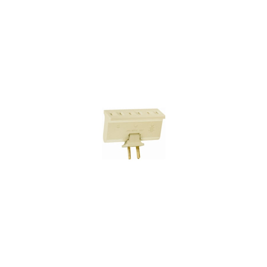 Pass & Seymour/Legrand 2-Wire Single to Triple Ivory Basic Swivel Adapter