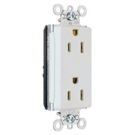 legrand plugtail white 15-amp decorator commercial outlet