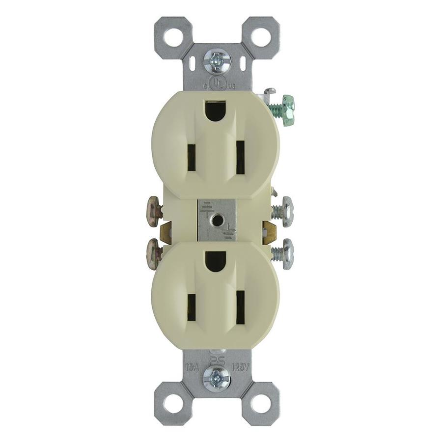 Pass & Seymour/Legrand 15-Amp 125-Volt Ivory Indoor Duplex Wall Outlet