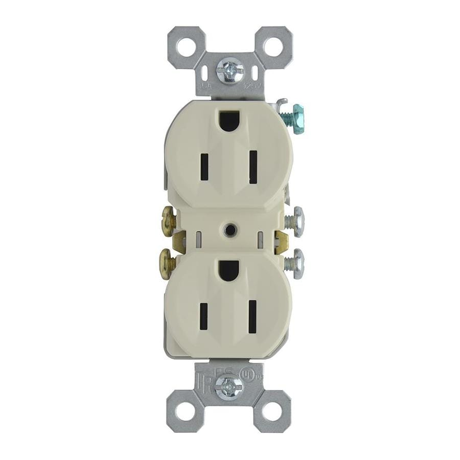 Pass & Seymour/Legrand 15-Amp 125-Volt Light Almond Indoor Duplex Wall Outlet