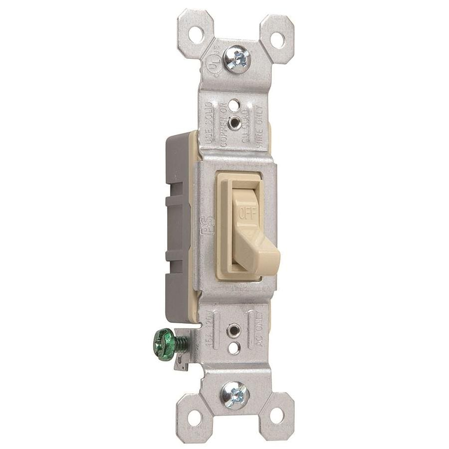 Pass & Seymour/Legrand Single Pole Ivory Light Switch