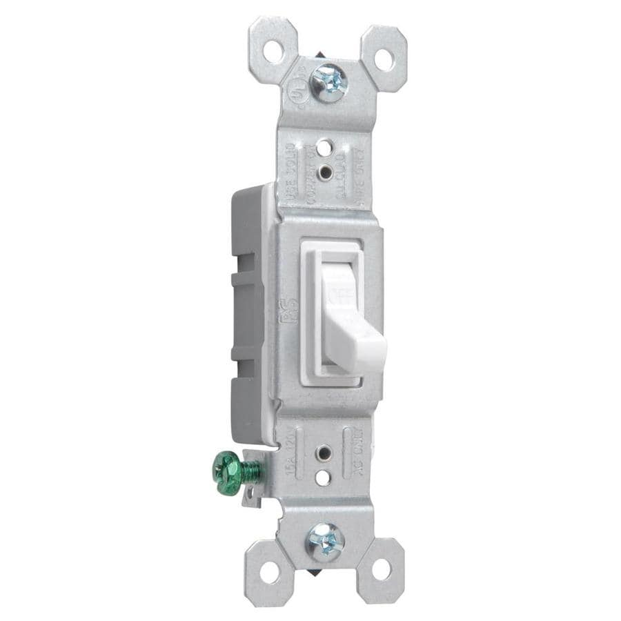 Pass & Seymour/Legrand 15-amp Single-pole White Framed Toggle Light Switch