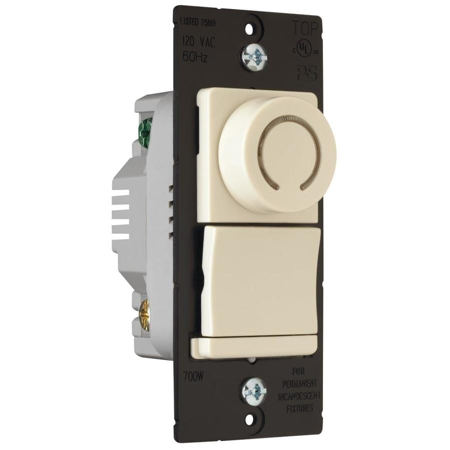 Pass & Seymour/Legrand 15/20-Amp Single Pole 3-way Ivory Rotary Indoor Dimmer