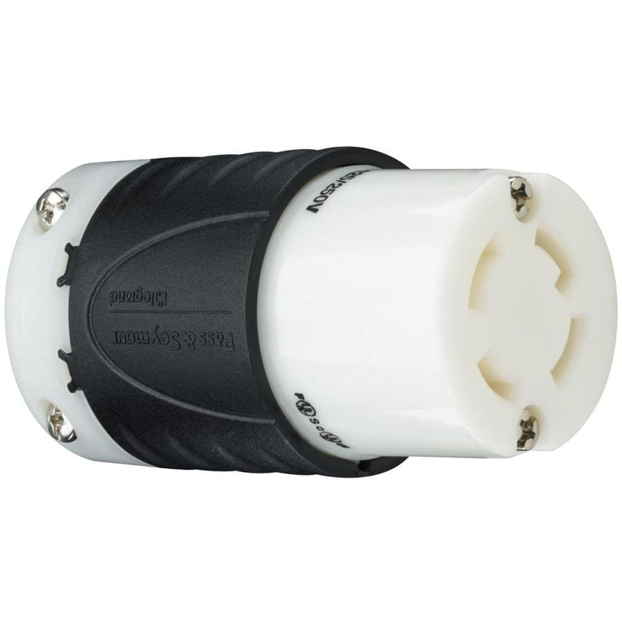 Legrand 30-Amp 250-Volt Black and white 3-wire Grounding Connector