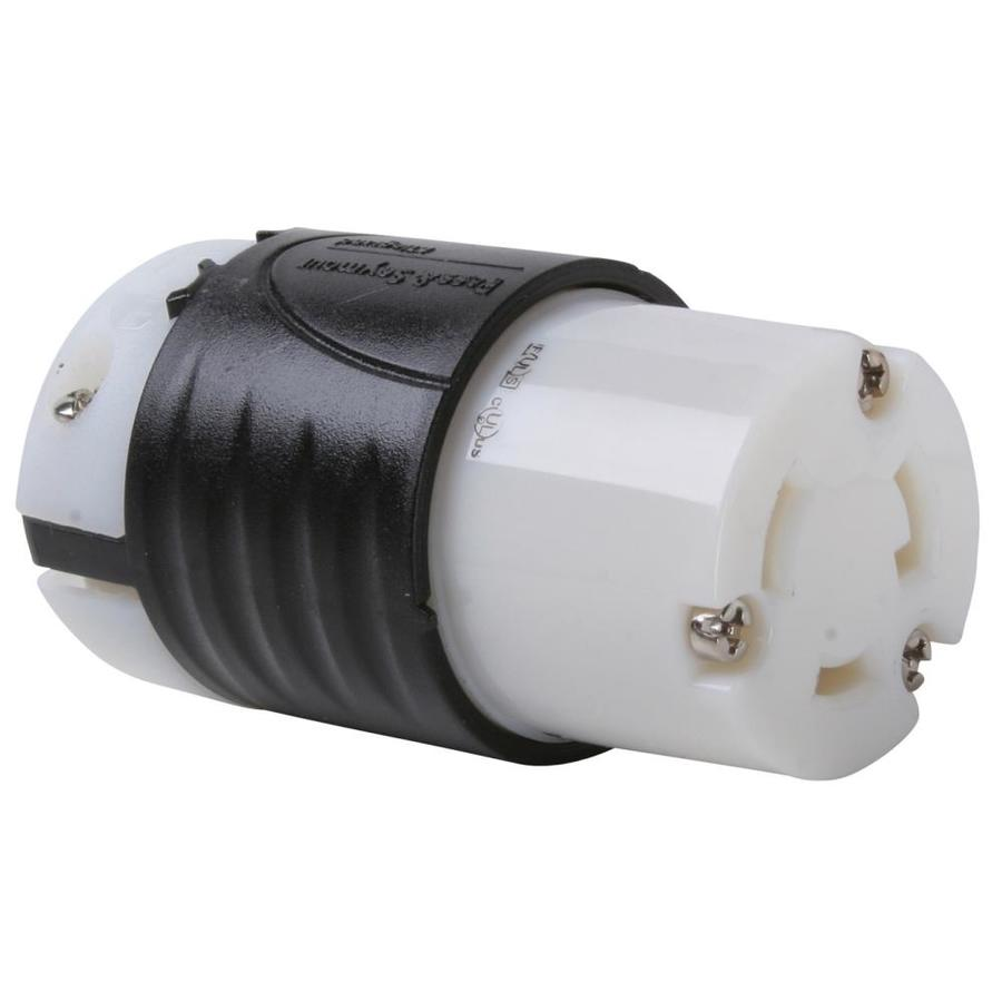Pass & Seymour/Legrand 30-Amp 125-Volt black/white locking connector
