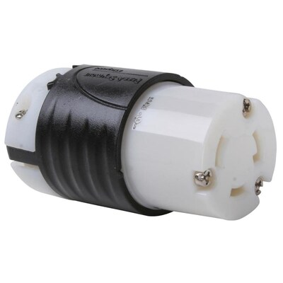 Legrand 30 Amp Volt Black 3 Wire Grounding Connector At