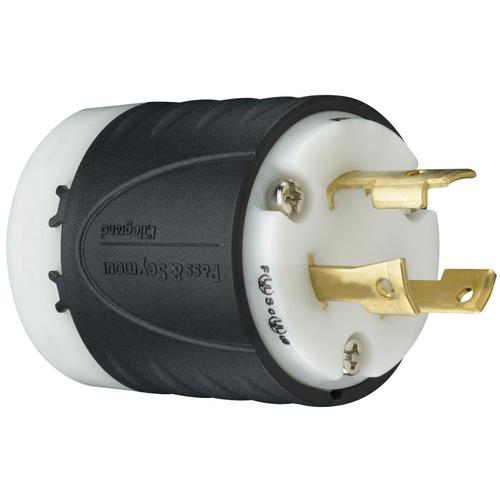 Pass & Seymour/Legrand 30-Amp 250-Volt Black 3-Wire Grounding Plug ... 20a 250v plug wiring diagram Lowe's