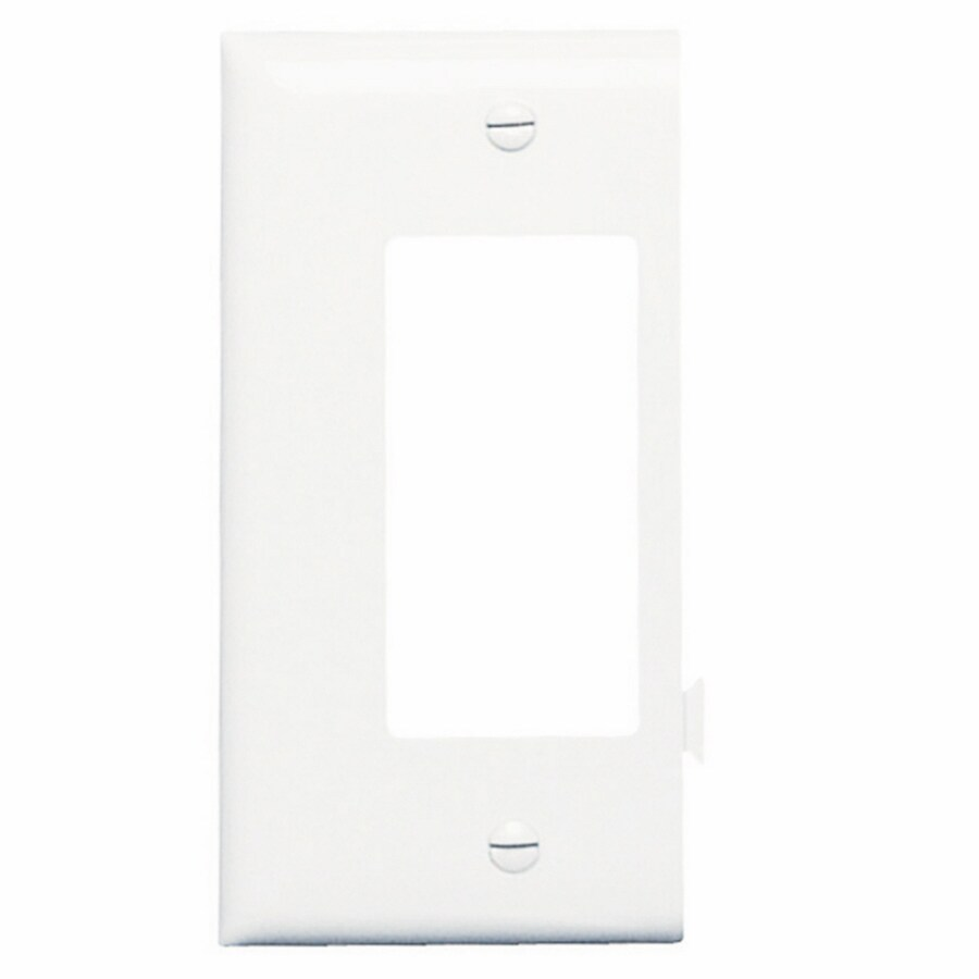 Legrand 1-Gang White Single Decorator Wall Plate