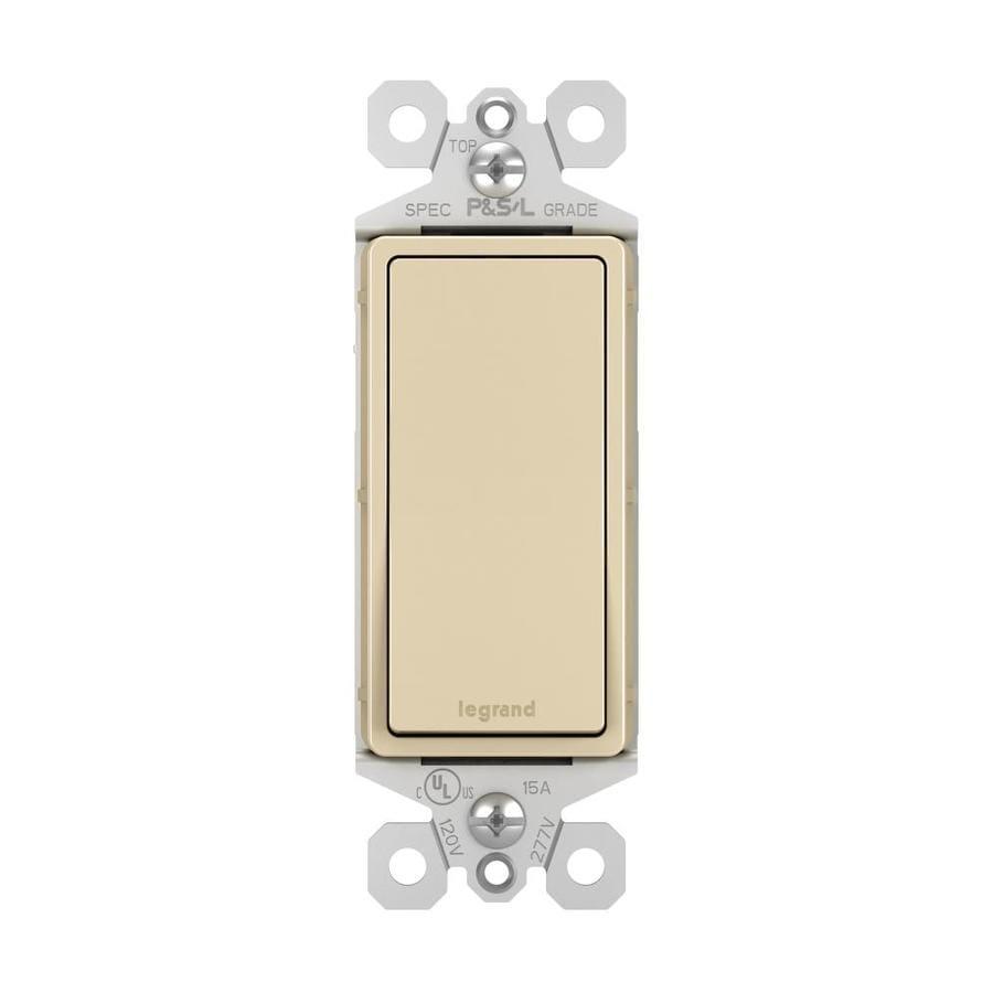 Shop legrand 15 20 amp single pole 3 way ivory rocker for Bathroom 15 or 20 amp
