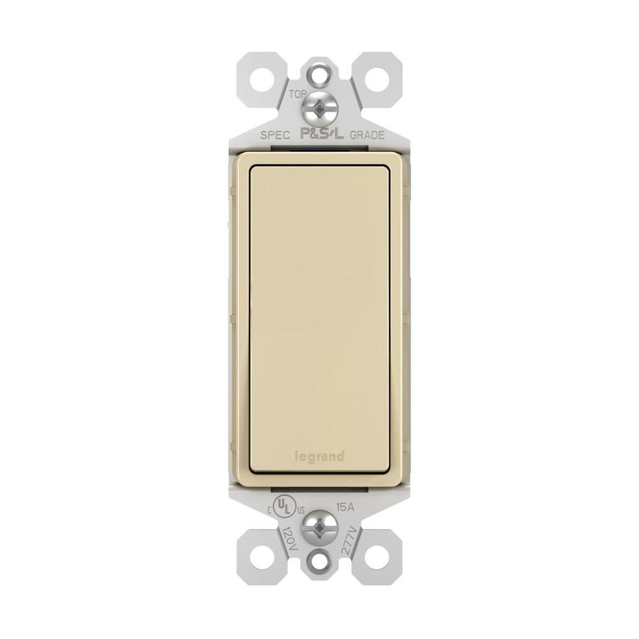 Legrand 15/20-amp Single Pole 3-way Ivory Rocker Indoor Light Switch