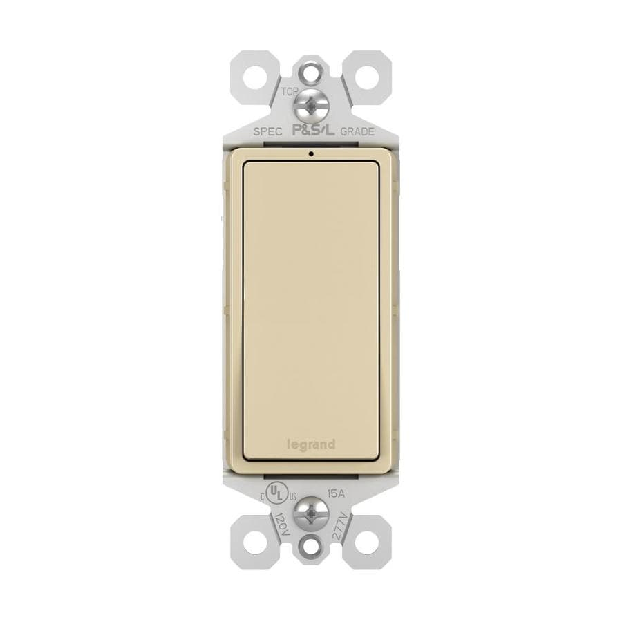 Pass & Seymour/Legrand Single Pole 3-Way Ivory Light Switch