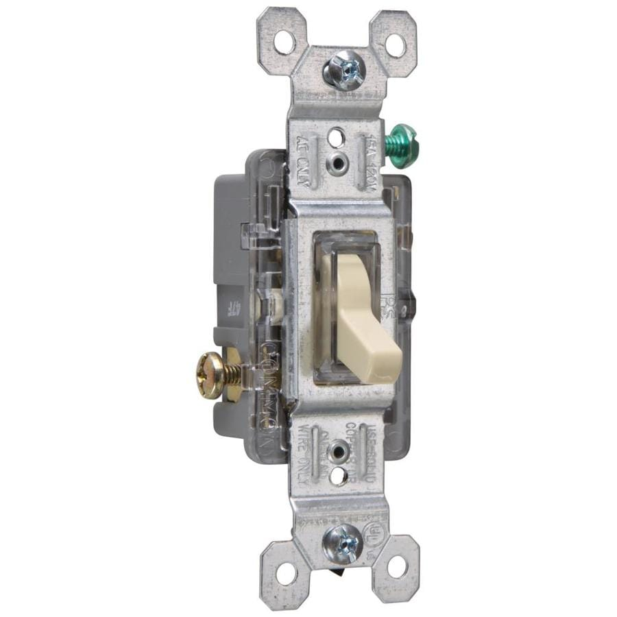 legrand pass & seymour 15-amp single-pole ivory framed toggle illuminated  residential light switch