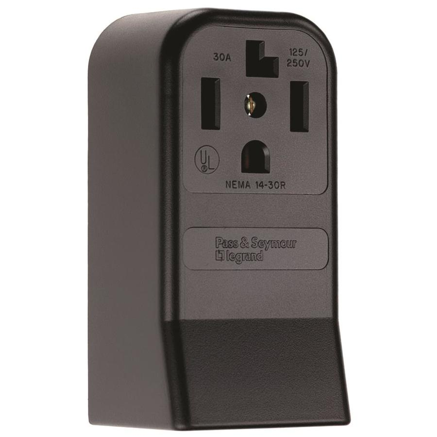 Pass & Seymour/Legrand 30-Amp 125/250-Volt Brown Indoor Round Wall Outlet