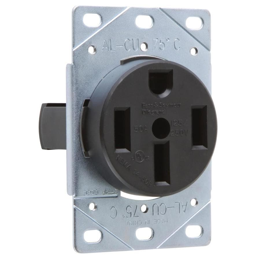 Pass & Seymour/Legrand 50-Amp 125/250-Volt Brown Indoor Round Wall Outlet