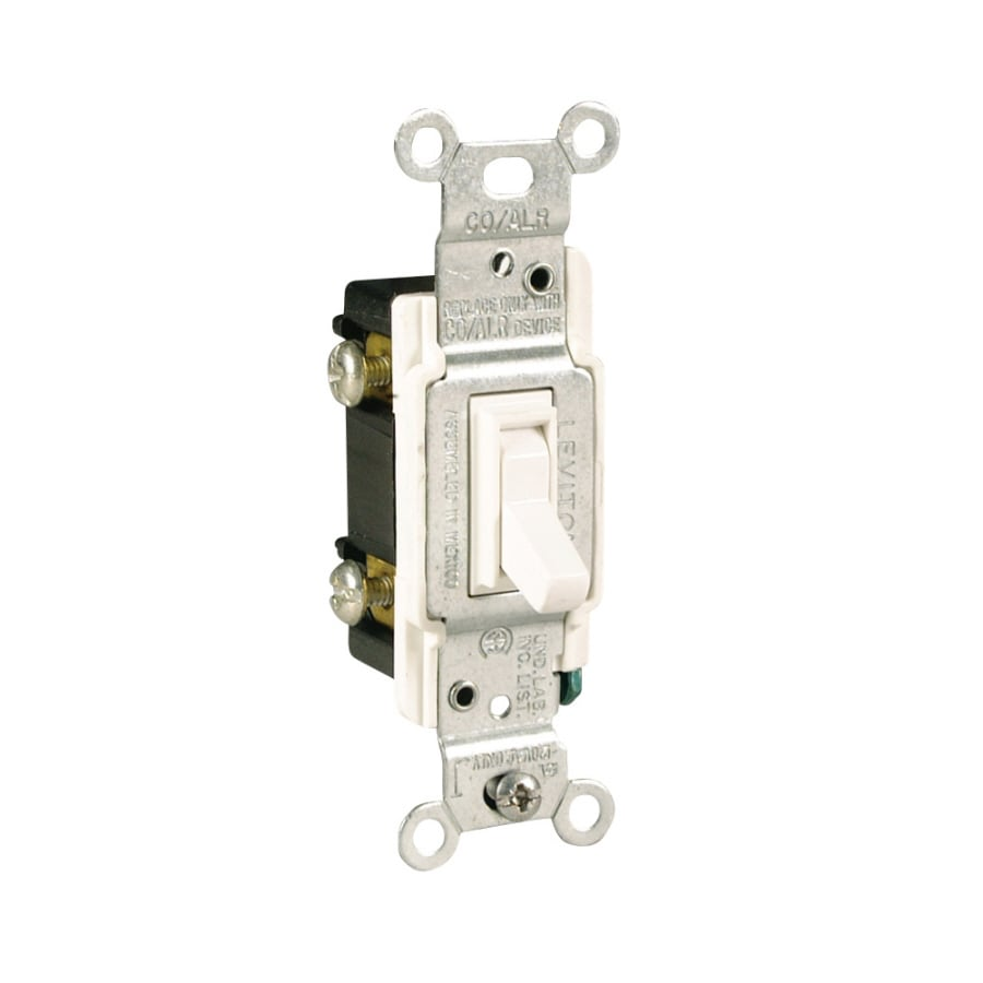 Legrand 15/20-Amp Single Pole 3-way White Toggle Indoor Light Switch