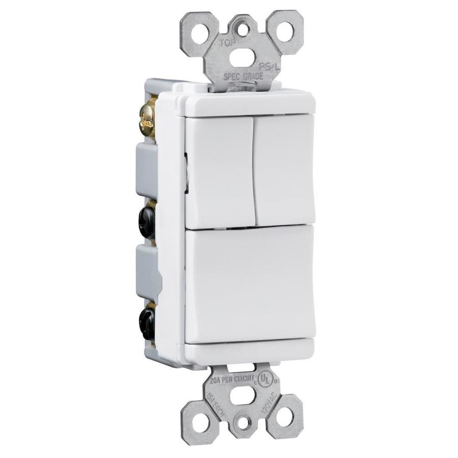 Pass & Seymour/Legrand TradeMaster Push Light Switch