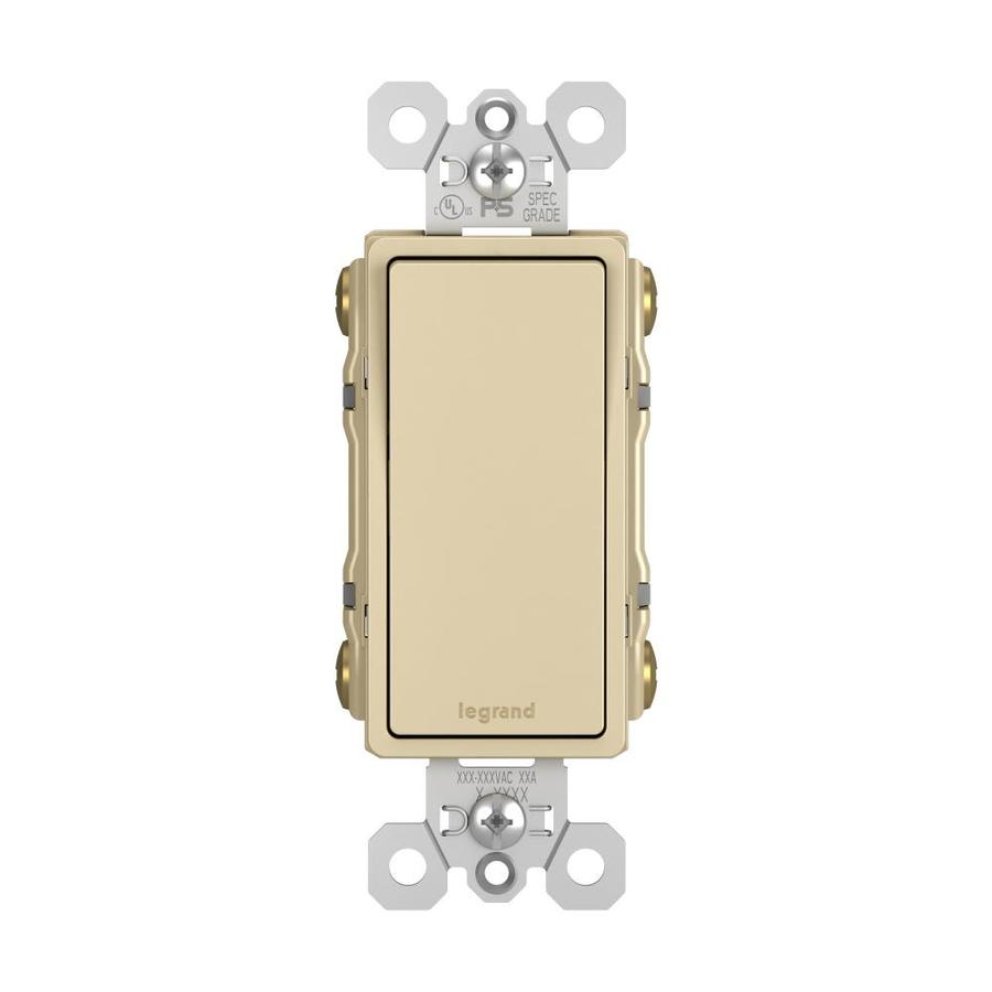 Shop Legrand 1520amp 4way Ivory Rocker Indoor Light Switch at