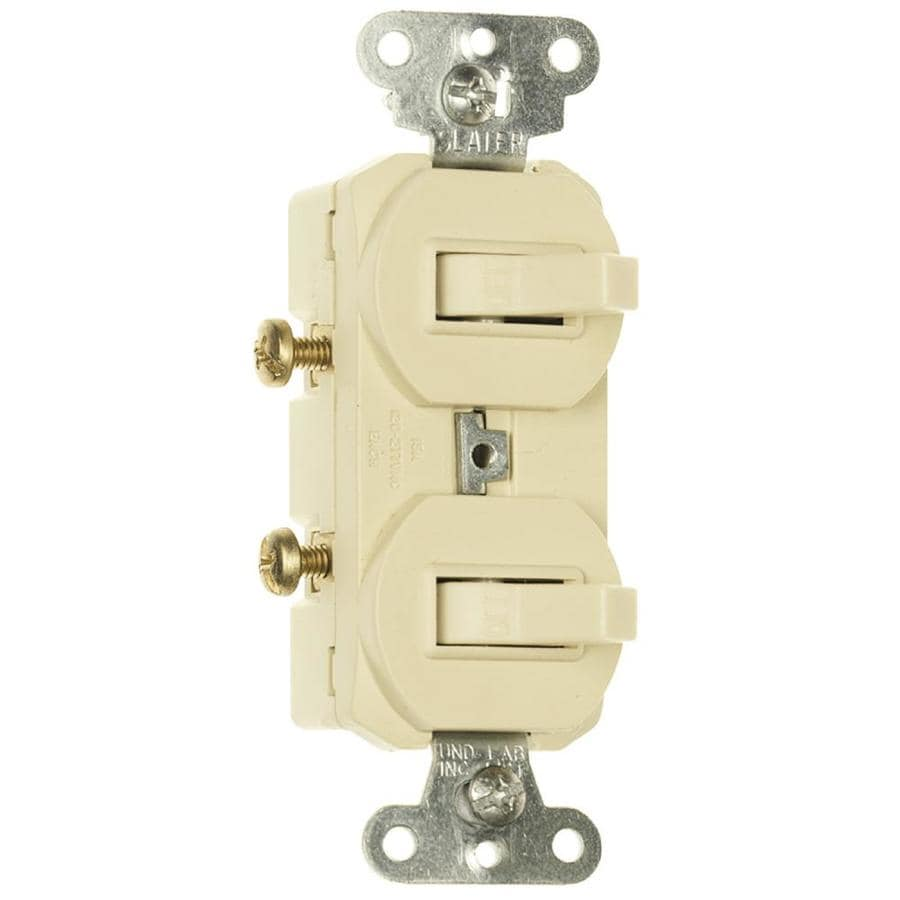 Legrand 15/20-Amp Double Pole 3-Way Ivory Toggle Indoor Light Switch
