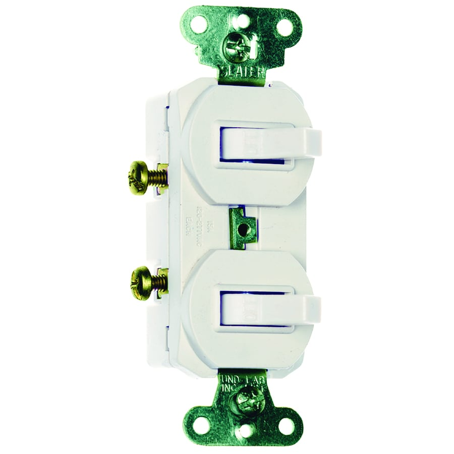 Pass & Seymour/Legrand 15-Amp White Double Pole Light Switch