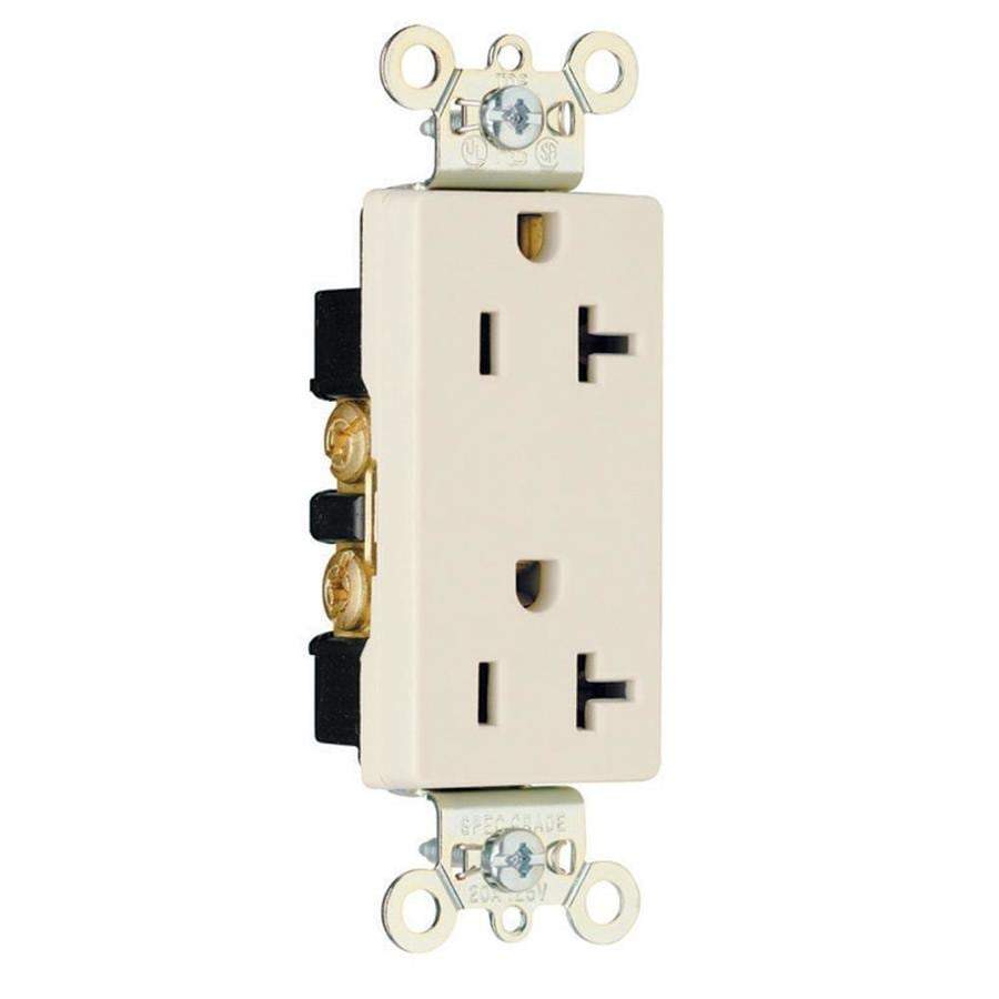Pass & Seymour/Legrand 20-Amp 125-Volt Light Almond Indoor Duplex Wall Outlet