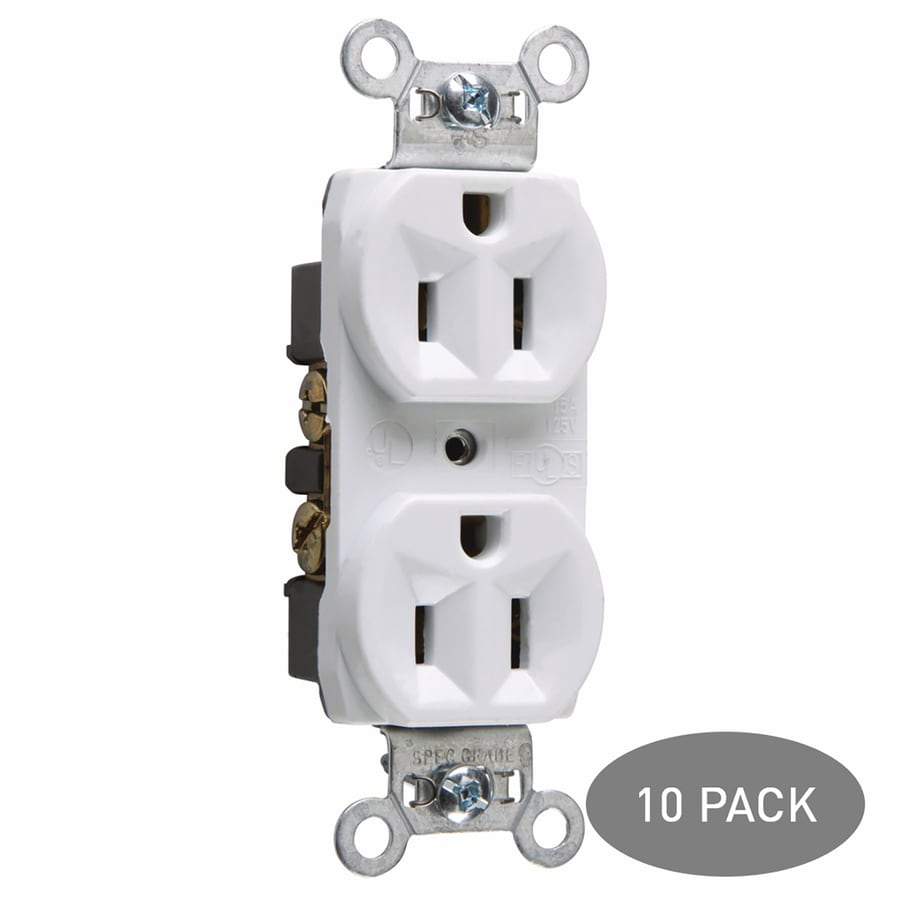 Legrand 10-Pack 15-Amp 125-Volt White Indoor Duplex Wall Outlet
