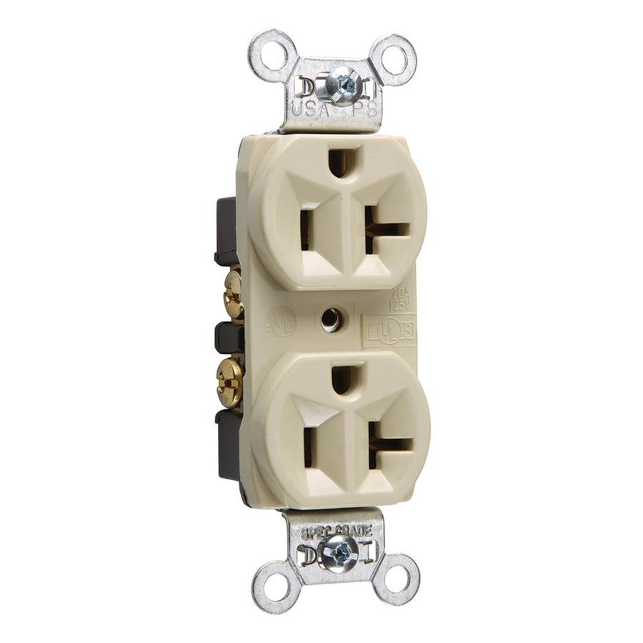 Legrand 20-Amp 125-Volt Ivory Indoor Duplex Wall Outlet