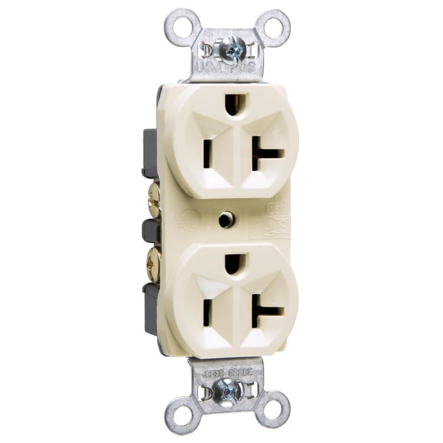 Legrand 20-Amp 125-Volt Light Almond Indoor Duplex Wall Outlet