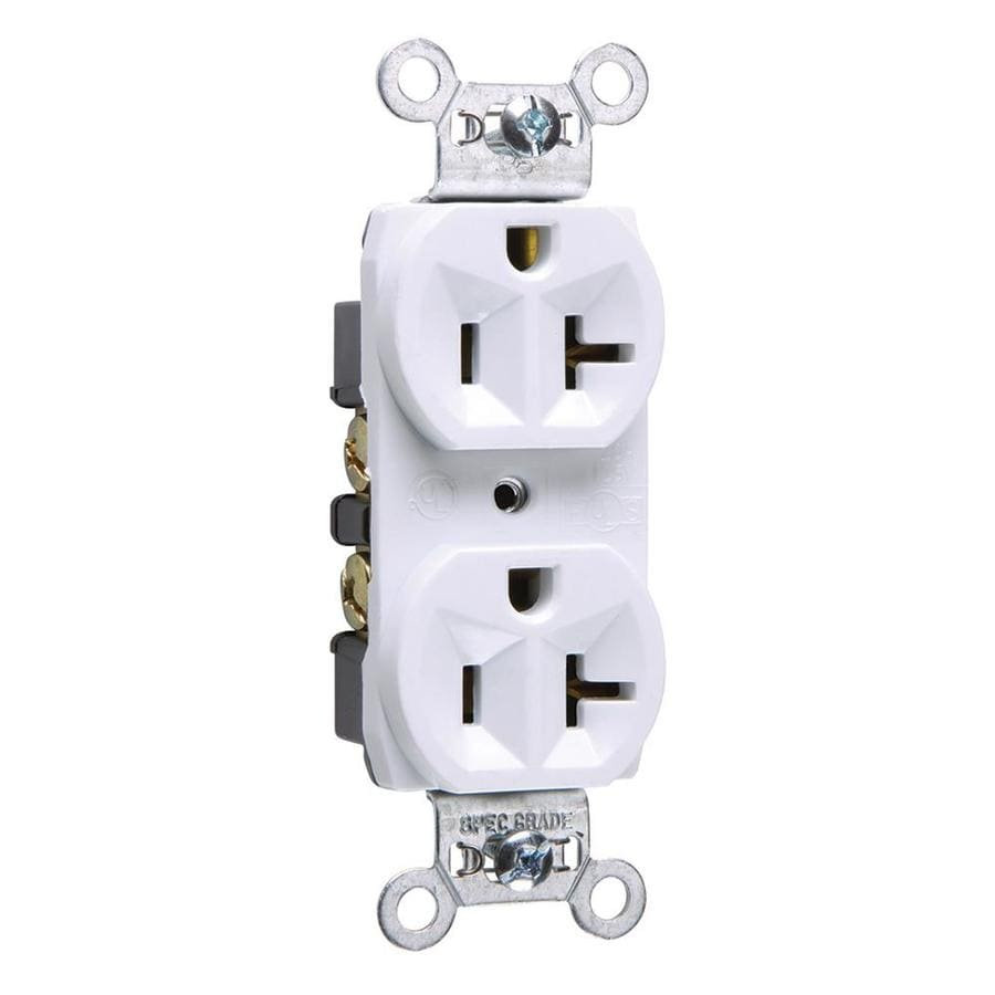 Legrand 20-Amp 125-volt White Indoor Duplex Wall Outlet