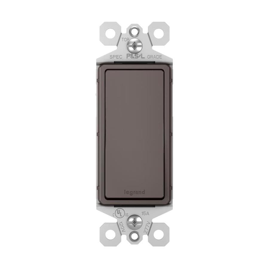 Pass & Seymour/Legrand 15-Amp Brown Decorator Light Switch
