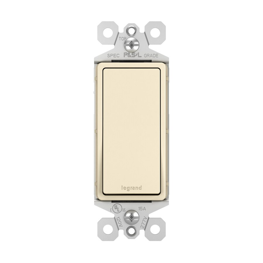Pass & Seymour/Legrand 15-Amp Light Almond Decorator Light Switch