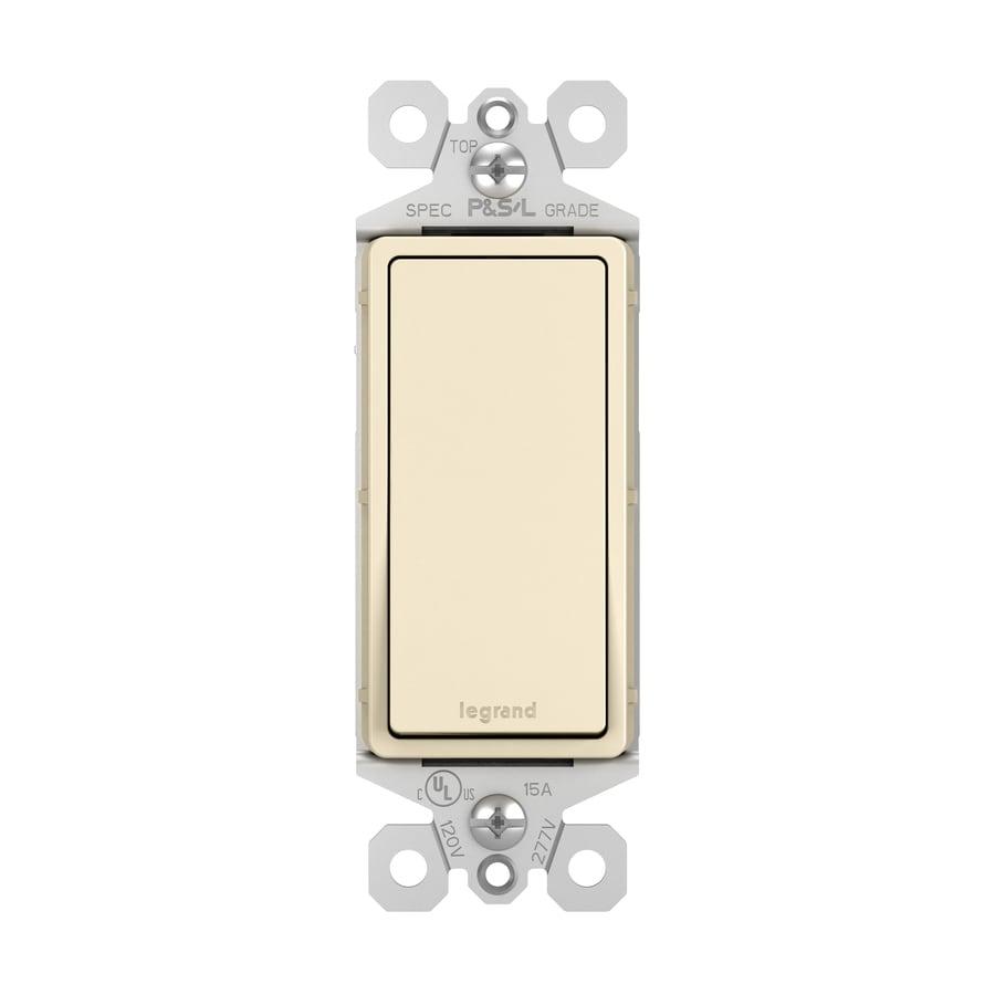 Legrand Single Pole Light Almond Light Switch