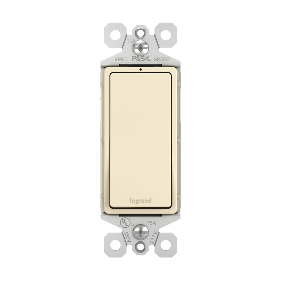 Legrand Single Pole Light Almond Light Switch