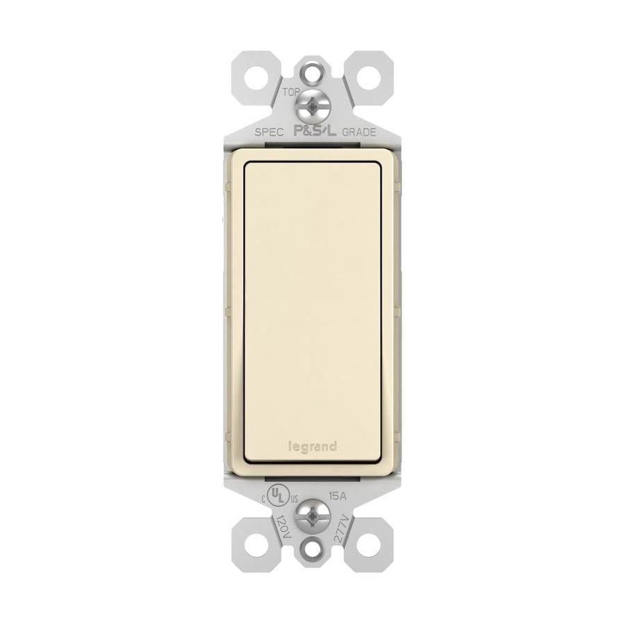 Legrand Single Pole 3-Way Light Almond Light Switch