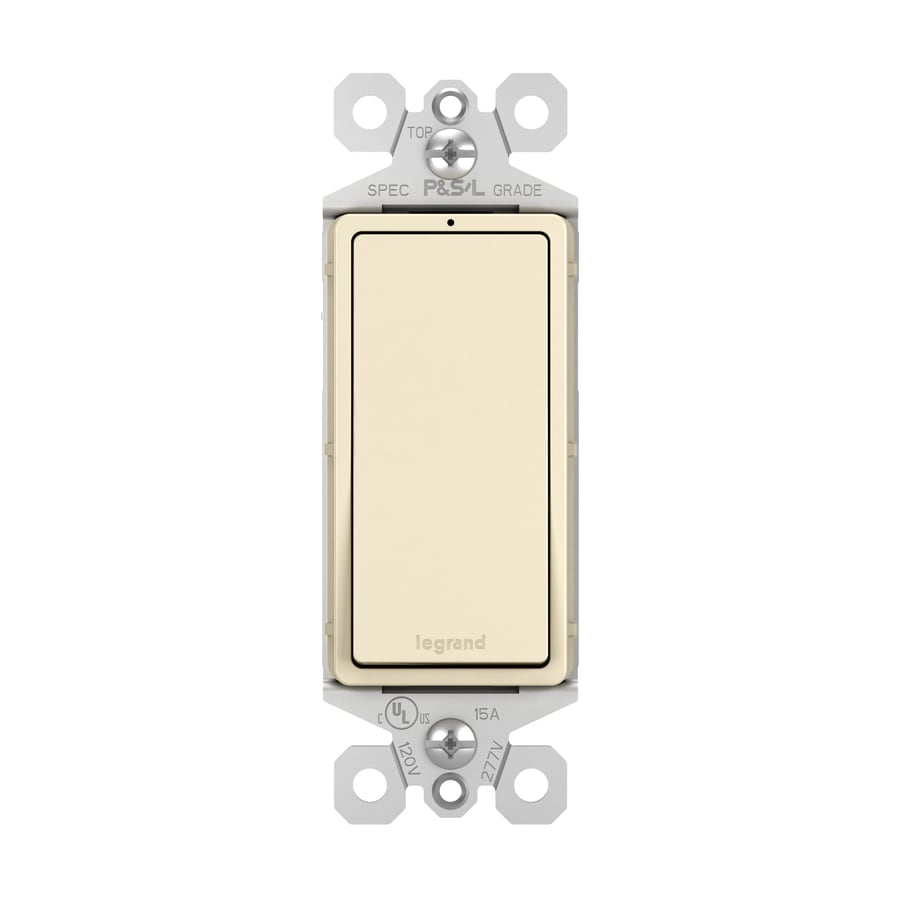 Pass & Seymour/Legrand 15-Amp Light Almond 3-Way Decorator Light Switch