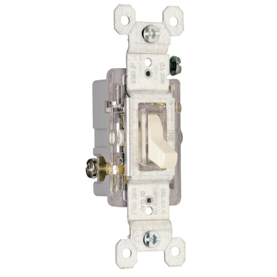 Legrand 15/20-amp Single Pole 3-way Light Almond Toggle Indoor Light Switch