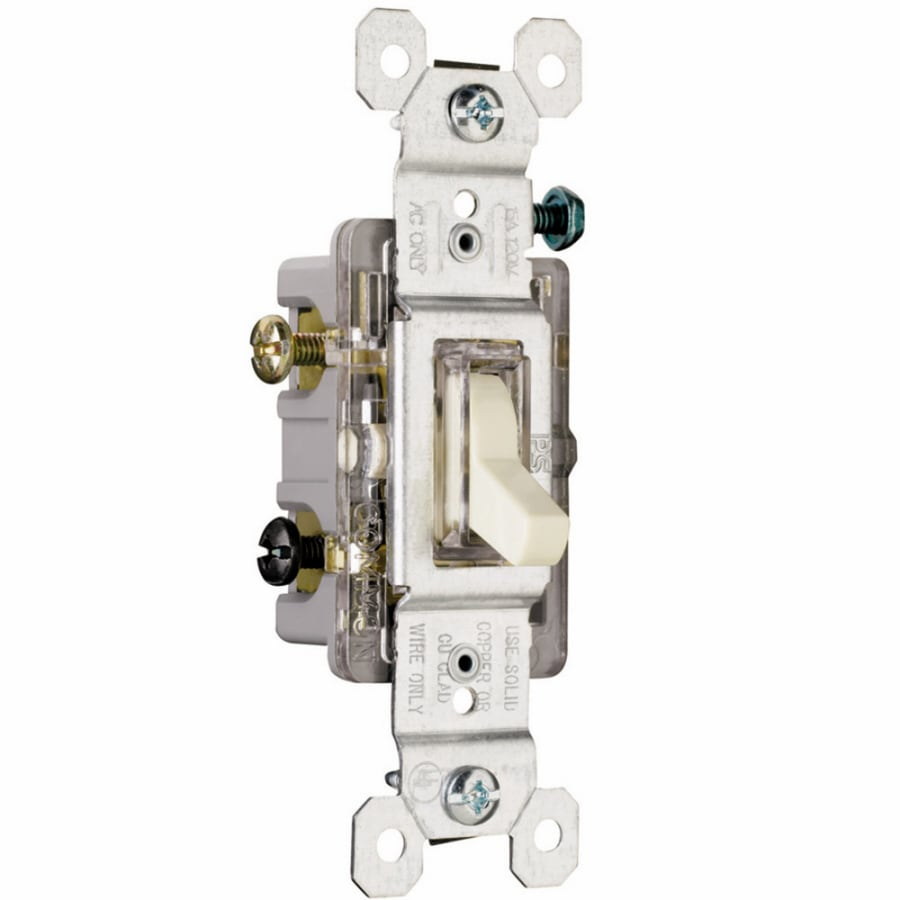 Shop Legrand 1520amp Double Pole 4way Light Almond Toggle - 4 Way Rocker Light Switch