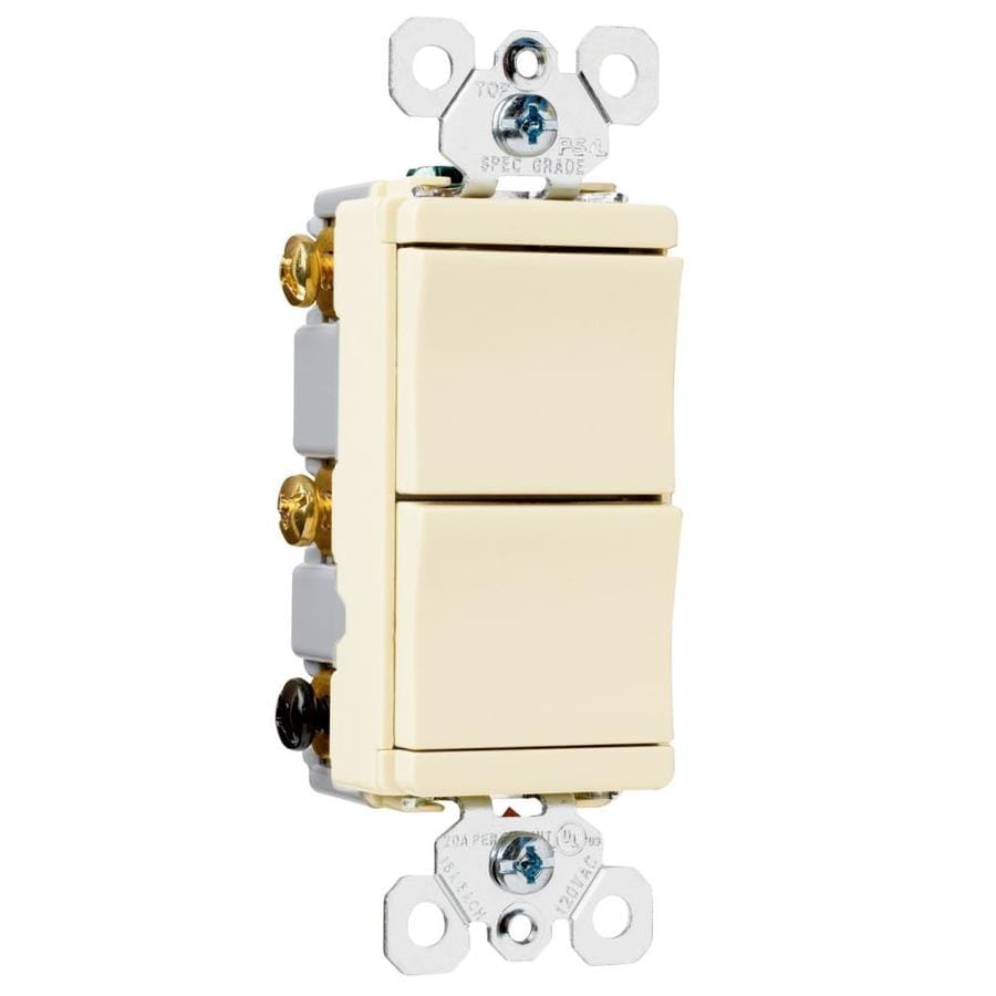 Pass & Seymour/Legrand 15/20-Amp Double Pole 3-way Light Almond Toggle Indoor Light Switch